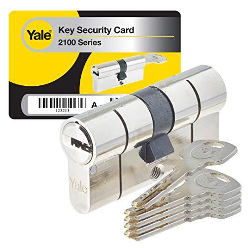 Yale YC2100 DB 30X40 NI - Cilindro de cerradura de embrague, níquel, 30 x 40 cm