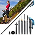 OSPUORT Hiking Poles Collapsible Lightweight Men Tactical Trekking Poles Multifunctional Aluminum Adjustable Height Walking Poles Hiking Apply On Foot?Travel?Outdoor Camping?Mountain Climbing?Outing