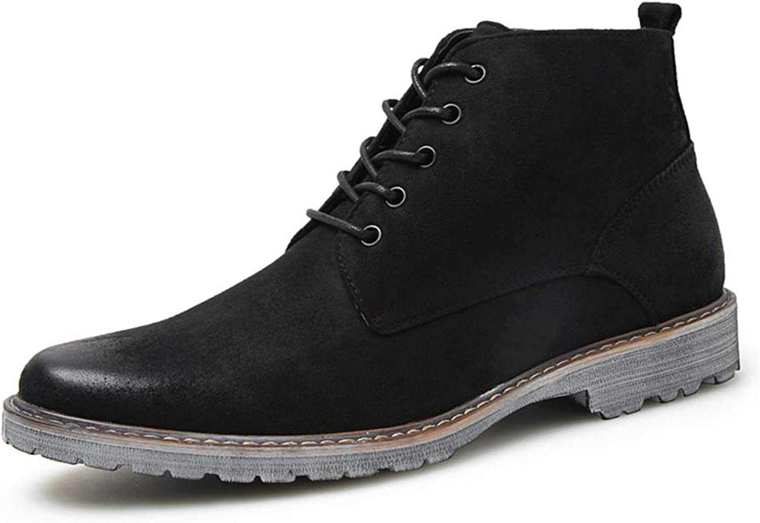 2019 Mens Boots Men's Casual Comfortable Simple Retro Lace-up Formal shoes Fashion Boots