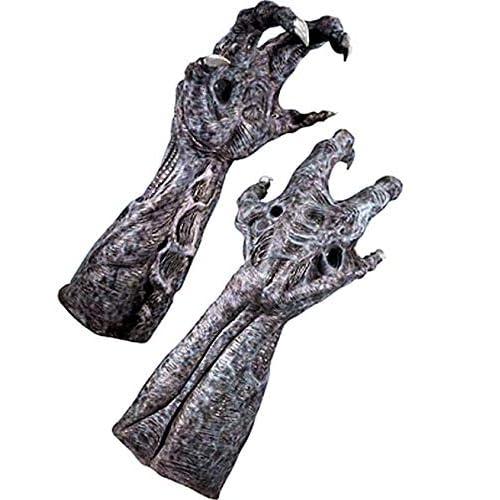 Deluxe Predator Hands Adult Men or Teen Latex Gloves Halloween Costume Accessory