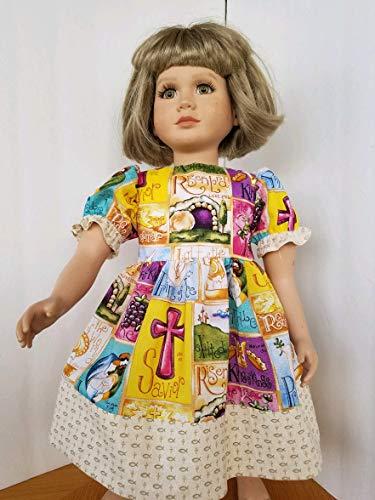 "Handmade in Arizona! 23"" My Twinn EASTER DRESS - He is Risen! King of Kings!"