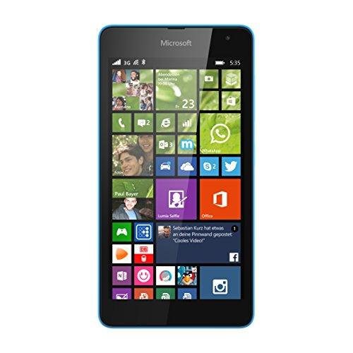 Microsoft Lumia 535 Smartphone (5 Zoll (12,7 cm) Touch-Bildschirm, 8 GB Speicher, Windows 8.1) cyan
