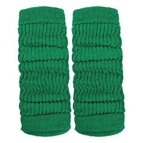 Toocool - Calentadores unisex modernos invernales para baile o aerobic, ref. LO-LW01 Verde Bandiera Talla única