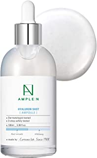 [AMPLE:N] Hyaluron Shot Ampoule 3.38 fl. oz. (100ml) - Hyaluronic Acid Powerful Hydrating Boosting Facial Serum, Plumps an...