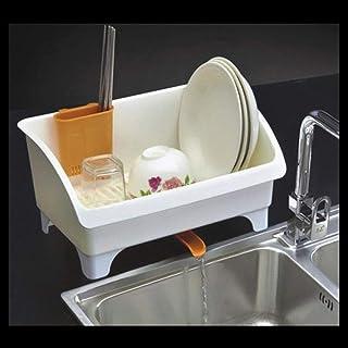 CAI Boîte de Rangement pour Les ménages Cuisine en Bois Massif Épaissir la Vaisselle en Plastique Support de Rangement dra...