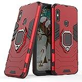 Cocomii Black Panther Ring Xiaomi Mi A2 Lite/Redmi 6 Pro Hülle, Schlank Dünn Matte Vertikaler und Horizontaler Ständer Ringgriff Hülle Bumper Cover Schutzhülle for Xiaomi Mi A2 Lite/Redmi 6 Pro (Red)