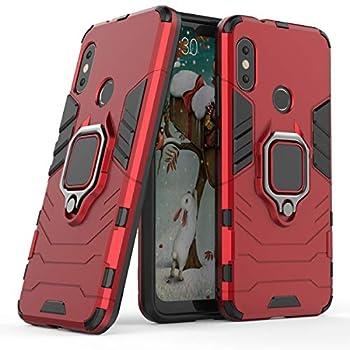 Cocomii Black Panther Ring Xiaomi Mi A2 Lite/Redmi 6 Pro Case Slim Thin Matte Vertical & Horizontal Kickstand Ring Grip Protection Bumper Cover Compatible with Xiaomi Mi A2 Lite/Redmi 6 Pro  Red
