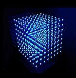 Yosoo 8x8x8 3D LED DIY Cube Light Kit Squared White LED Blue Ray