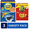 Oreo (ORMT9) RITZ And Honey Maid Snack Variety Pack(Family Size), Chocolate sandwich cookies, salted crackers and honey graham crackers, 3 Count #1