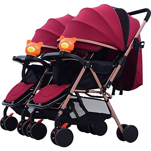Best Price MW Lightweight Double Baby Stroller,Double Stroller Toddler Infant Stroller 0-36 Months B...