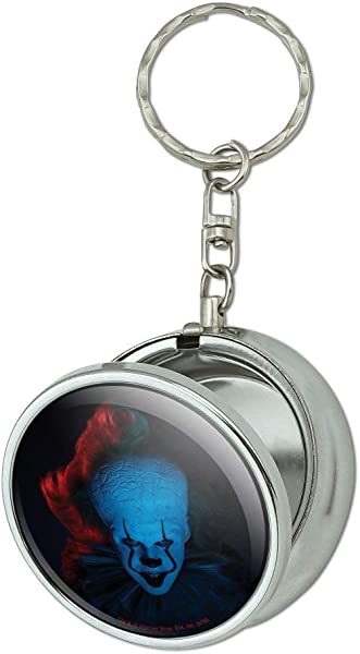 GRAPHICS MORE IT Chapter 2 Blue Pennywise Portable Travel Size Pocket Purse Ashtray Keychain With Cigarette Holder