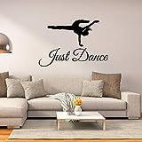 ASFGA Love Sports Street Dancer Silueta Etiqueta de la Pared Sala de Baile enseñanza Pegatina Pintor Decorar niña Dormitorio Regalo con Dormitorio Arte de la Pared 76x57cm