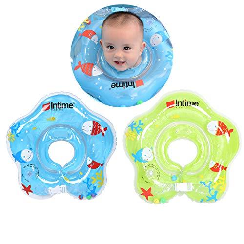FunPa 2PCS Baby Schwimmring Niedlicher Cartoon aufblasbarer Pool-Schwimmring Schwimmring