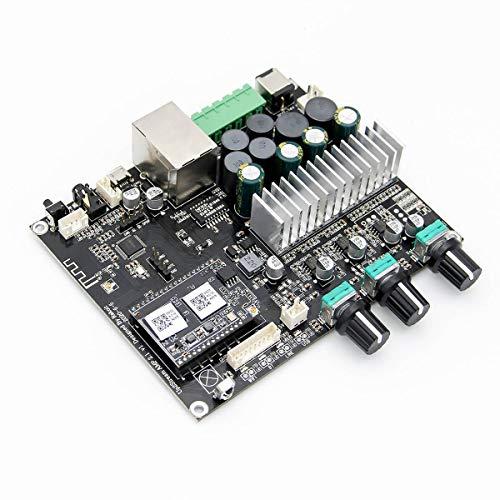 WiFi&Bluetooth 5.0-Audioverstärkerplatine mit Subwoofer 2×50 W+100 W HiFi-Stereo-Multiroom-Streaming Klasse-D-Verstärkerschaltkreis-Modul für DIY-Lautsprecher-Up2stream Amp 2.1
