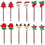 Bolígrafo 12Pcs Navidad Lindo Rollerball Bolígrafo Set de papelería Gel Tinta Pluma Fineliner Pluma Boceto Escritura Dibujo Marcadores para Nota Calendario Colorear Oficina Material escolar Proyectos