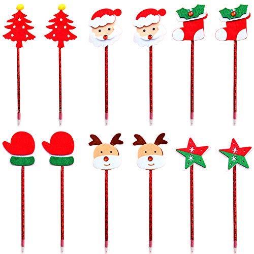 Ballpoint Pen 12Pcs Christmas Cute Rollerball Ballpoint Pen Stationery Set Gel Ink Pen Fineliner Pen Sketch Writing Drawing Markers for Note Calendar Coloring Office School Supplies Art Projects