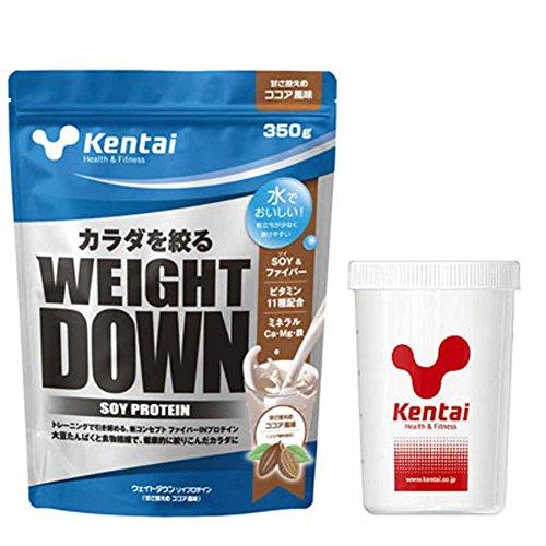Kentai(ケンタイ) ウエイトダウンSOYプロテイン ココア風味+Kentaiプロテインシェーカーセット K1140-K005
