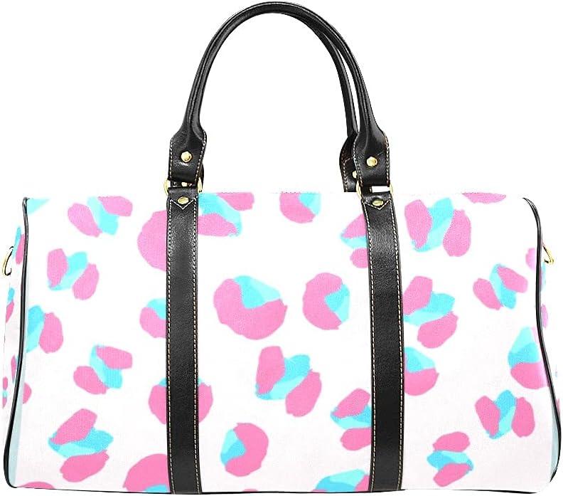 Large discharge sale Unisex Travel Duffel Bag Leopard Panther Sales results No. 1 Carry-on Skin Shoulder