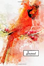 Journal: Beautiful Watercolor Cardinal Designed Cover with 110 Blank Lined Wide Ruled Pages for Writing down your Notes, Words, Daily Thoughts, ... of Gratitude and Prayer (6x9 Journals)