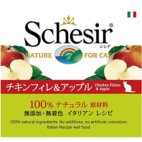 Schesir Fruit Cat Pollo Mela Gr758