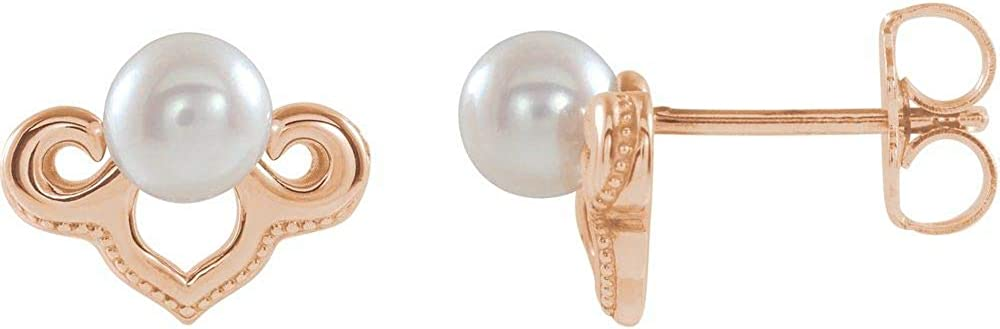 Freshwater Cultured Pearl Earrings Small (10mm x 7.3mm)