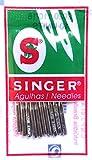 Singer 10 agujas para máquina de coser 2020, grosor 80/11,