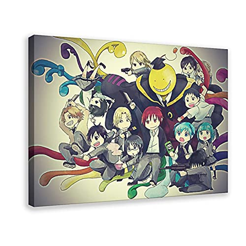 Póster de Assassination Classroom 2 en lienzo para decoración de pared, para sala de estar, dormitorio, marco de 40 x 60 cm