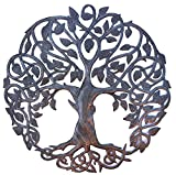 Tree of Life Metal Wall Art, Contemporary Iron Artwork Decor, Celtic Family Trees, 23 In. ...