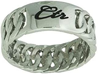 One Moment In Time J179 LDS Unisex CTR Ring Allure Ceramic White Size 5-9