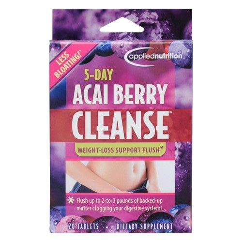 5-Day Acai Berry Cleanse Dietary Supplement. 60 Tablets Total: 3X 5-Day Cleanse Packs: 20/Pack