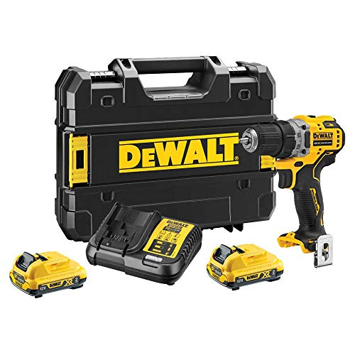 Dewalt DCD701D2 12V XR Brushless Compact Drill Driver with 2 x 2.0Ah Batteries Charger & Case