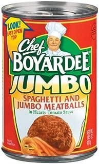 CHEF BOYARDEE PASTA SPAGHETTI & JUMBO MEATBALLS 14.5 OZ