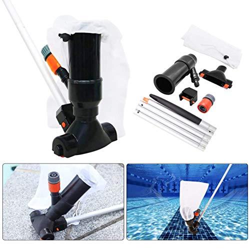 DHFD Aspirador de Agua para Piscina, Limpiador de Chorro de Piscina, para Piscina, Estanque, Mini Jet, Aspirador de Aspiradora, con 5 Secciones de Polos