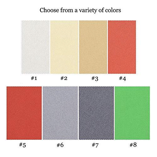 Party zonwering, luifel, baldakijn, zonbescherming, rechthoekig, 95% blok, waterdicht, zonwering, luifel, baldakijn 2 maten en 8 kleuren voor buiten patio tuin gazon pergola deken