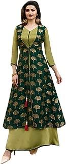 Indian Ethnic Green Jacket Style Salwar Kameez Suit Designer Collection 7429