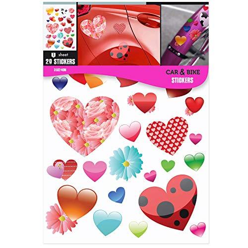 Decoración de pegatinas de corazones únicos para niñas y niños, aplique en cualquier superficie que desee.