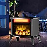 YQZ Calentador de Estufa infrarrojo de Chimenea eléctrica de 2000 W, Calentador de Chimenea Independiente, Efectos de Llama realistas en 3D