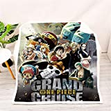 OAbear One Piece Anime Blanket Microfiber and Anti-Pilling Carpet for Home