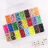 Vaessen Creative Beads, Mezcla de 24 Colores, Set de 5000 Piezas en un Caja de...