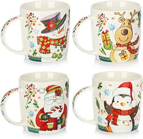 theshyer 1PCS Christmas New Pattern Ceramic Cup Mug Christmas Family Taza de...