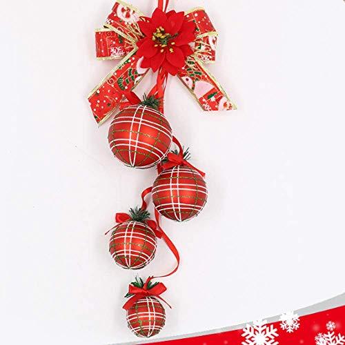 MMHJS Palla per Palline di Natale Decorazioni per L'Albero di Natale Decorazioni per Le Celebrazioni Natalizie Palla per La Decorazione del Negozio di Capodanno 2 Pezzi
