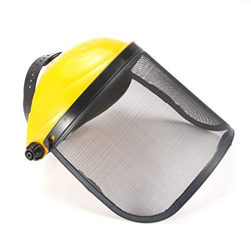 FreeLeben Casco Protector De Protección Facial Con Visera De Seguridad, Para Motosierra Desbrozadora Protección Del Cortacésped (amarillo)