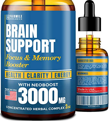 Brain Supplement for Memory, Focus, Energy & Clarity - Natural Nootropic with Ginkgo Biloba, Ginseng & L-Tyrosine - USA Made - Mental Health & Concentration Boost - Better Absorption Than Brain Pills