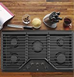 GE Profile PGP7036BMTS Built-In Gas Cooktop 5 Burner,36 Inch,Black