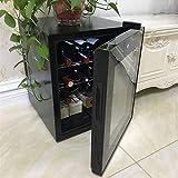 ワインセラー-クーラーサーモスタットワインキャビネットワイン冷蔵庫クーラードリンク冷蔵庫デジタルコンパクトシングルドアスモールコントロールストレージガラスドアサイレント(ステンレスコンパートメント)
