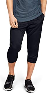 Under Armour Men's Mk1 Warmup 3/4 Pants, Black (Black/Pitch Grey), Large