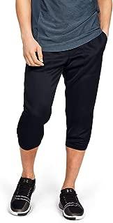 Under Armour Men's Mk1 Warmup 3/4 Pants, Black (Black/Pitch Grey), Medium