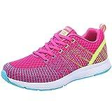 Zapatillas de Deporte Respirable para Correr Deportes Zapatos Running Cojines de Aire Calzado Mecedora Net para Estudiante Volar Zapatos Deportivas de Mujer Gimnasia Ligero Sneakers Atletismo riou