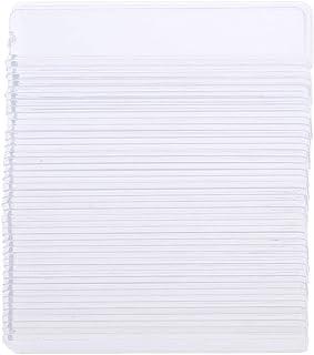 100本のネイルアートボードのヒントスティックアクリルディスラック - クリア
