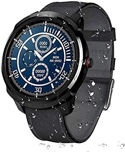 JSL Reloj inteligente deportivo resistente al agua Smartwatch Fitness Tracker con ritmo cardíaco, monitor de sueño